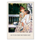 First Mother's Day Vintage Art Custom Cards