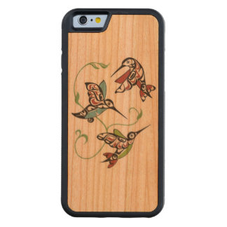 First Nation Hummingbird Design Carved Cherry iPhone 6 Bumper Case