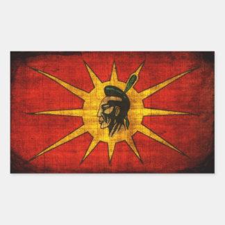 First Nation Mohawk Rectangular Sticker