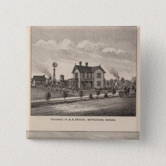 First National Bank, Kansas 15 Cm Square Badge
