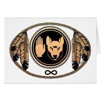 First Nations Cards Metis Wolf Native Art Cards