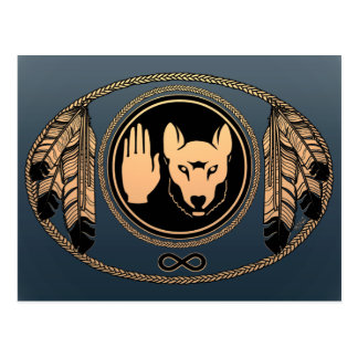 First Nations Cards Wolf Native Art Cards Metis Postcards
