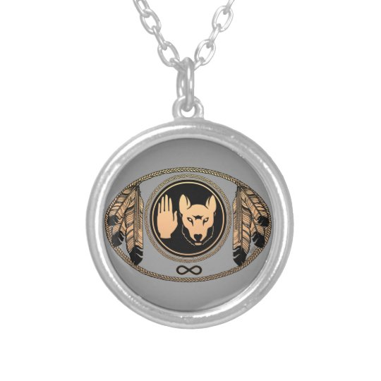 First Nations Necklace Metis Wolf Jewellery