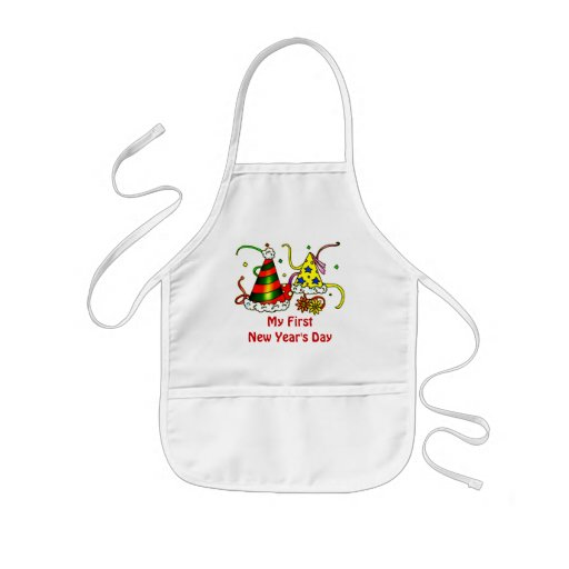 First New Year's Day Baby Apron