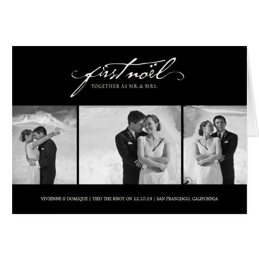 First Noel  As Mr. & Mrs. Holiday Photo Greetings Greeting Card