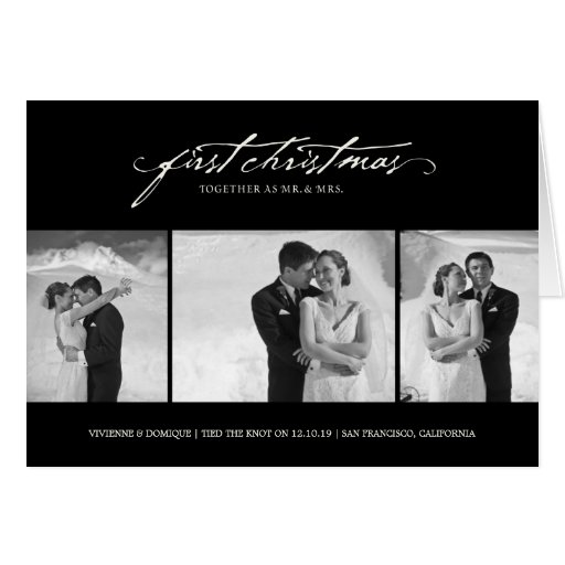 First Noel  As Mr. & Mrs. Holiday Photo Greetings Cards
