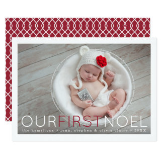 First Noel | Baby's First Christmas Photo Card