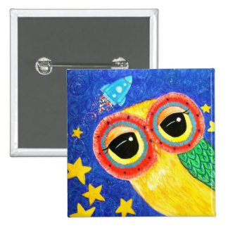 First Owl In Space 15 Cm Square Badge