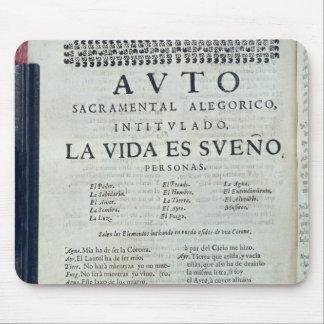 First page of 'La Vida es Sueno' Mouse Mat
