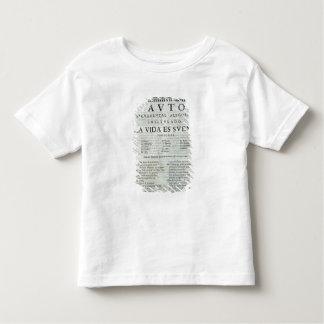 First page of 'La Vida es Sueno' Toddler T-Shirt
