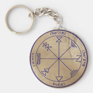 First Pentacle of Jupiter Basic Round Button Key Ring