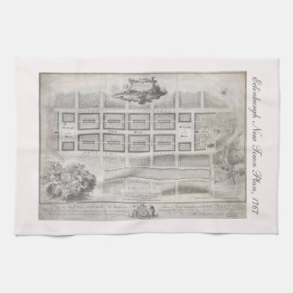 First plan of New Town, Edinburgh 1767 Tea Towel