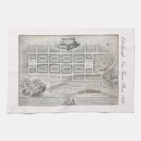 First plan of New Town, Edinburgh 1767 Tea