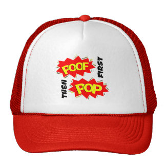 First POOF then POP Mesh Hats