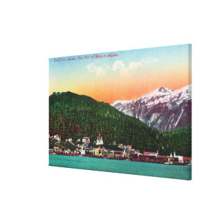 First Port of Entry in Alaska View Canvas Print