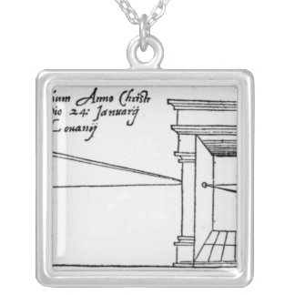 First published illustration silver plated necklace