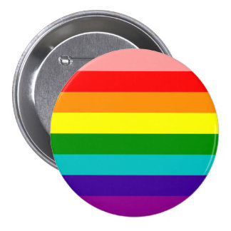 First Rainbow Gay Pride Flag Button