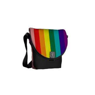 First Rainbow Gay Pride Flag Messenger Bag