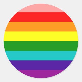 First Rainbow Gay Pride Flag Round Sticker