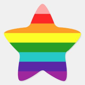 First Rainbow Gay Pride Flag Star Sticker