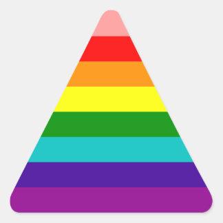 First Rainbow Gay Pride Flag Triangle Sticker