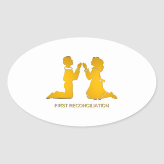 First Reconciliation Oval Sticker