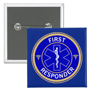 First Responder 15 Cm Square Badge