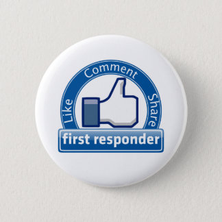 First Responder 6 Cm Round Badge