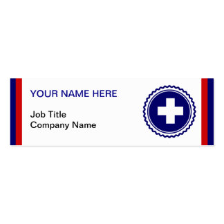 First Responder Blue Health Care Cross Pack Of Skinny Business Cards