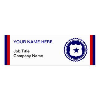 First Responder Blue Police Badge Pack Of Skinny Business Cards