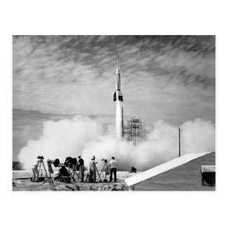 First Rocket Launch Cape Canaveral Bumper 2 Postcard