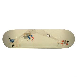 First Scroll, Ancient Japanese Fart Battles Custom Skate Board