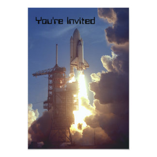 "First Shuttle Launched 5"" X 7"" Invitation Card"