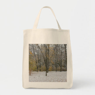 First Snow Fall in Autumn - Version 2 Tote Bag
