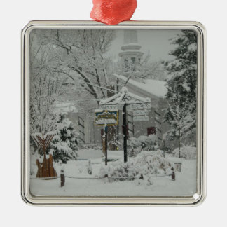 First Snow Fall Town Square Woodstock,NY Christmas Ornament