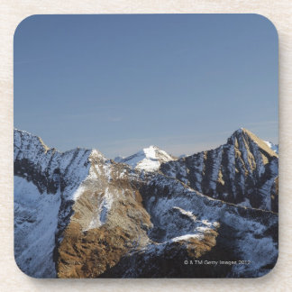 First snow on the mountains drink coasters