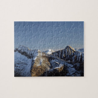 First snow on the mountains jigsaw puzzle