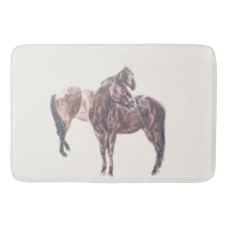 First Snow Patina Bath Mat Western Horse