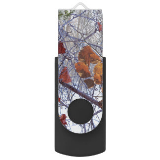 First Snow Winter Forest Camo Print USB Flash Drive