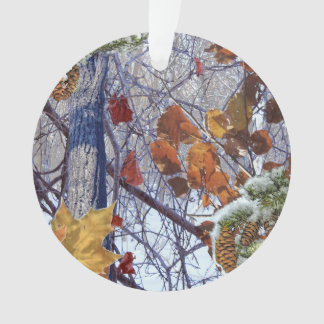First Snow Winter Scene Camouflage Painting Ornament
