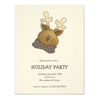 First Snowel · Reindeer Card