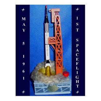 First Spaceflight Postcard