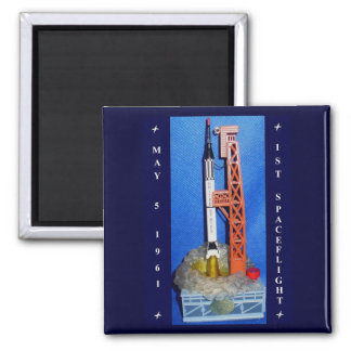 First Spaceflight Square Magnet