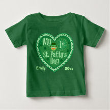 First St. Patrick's Day Custom Baby Infant Creeper