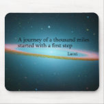 First Step Laozi Quote Mouse Pad