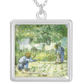 First Steps 1890 Vincent van Gogh (1853-1890) Silver Plated Necklace