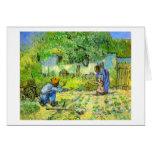 First steps, 1890 Vincent van Gogh. Greeting Cards