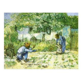 First steps, 1890 Vincent van Gogh. Postcard