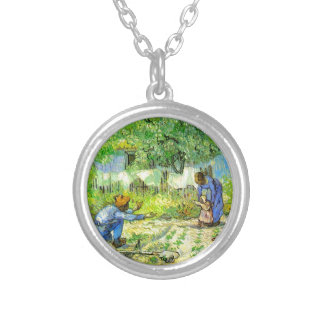 First steps, 1890 Vincent van Gogh. Silver Plated Necklace
