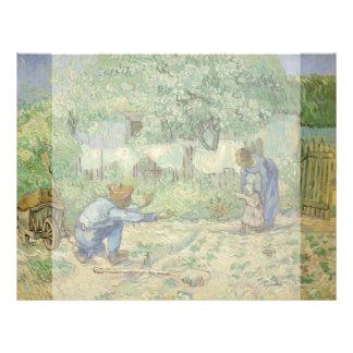 First Steps after Millet by Vincent Van Gogh 21.5 Cm X 28 Cm Flyer